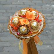 """Букетик из конфет №711 """"Сладкий десерт"""""""